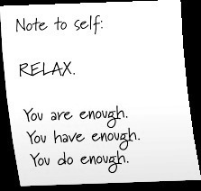 Enough Said…