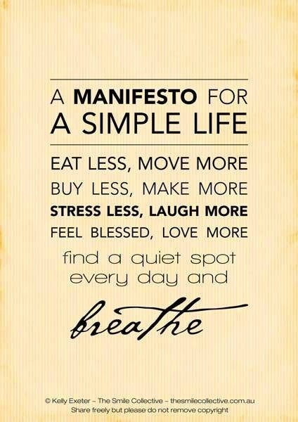 Ahh, the Simple Life :)