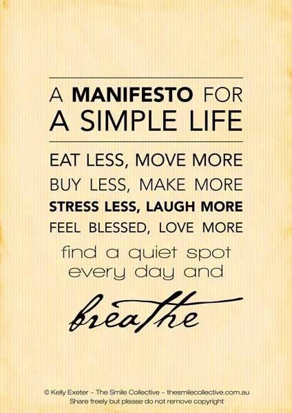 Ahh, the Simple Life:)