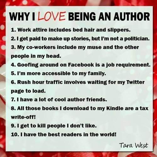 Why I Love Being an Author