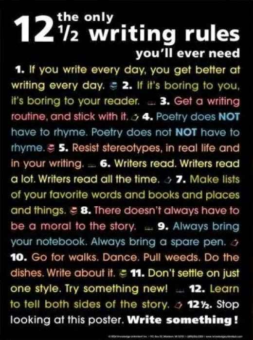 12 1/2 Writing Rules