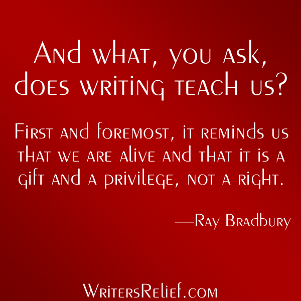 What Writing Teaches Us