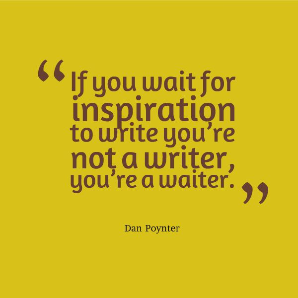 Waiting for Inspiration